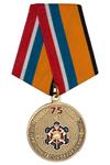Медаль «75 лет специальным подразделениям ФПС» с бланком удостоверения