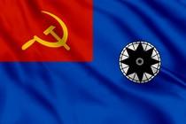 Флаг гидрографических судов (если командир - не военный моряк)