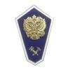 Нагрудный знак «Об окончании технического ССУЗа», вар. 2, с накладным гербом