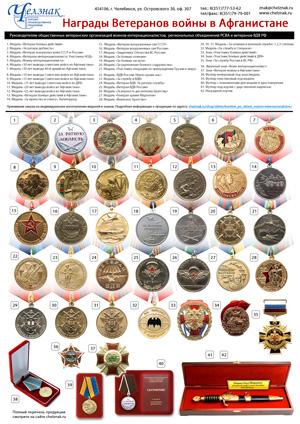 Награды для Российского Союза ветеранов Афганистана