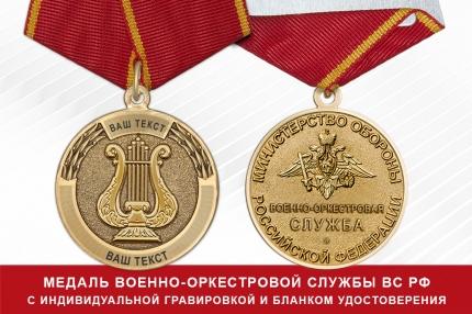 Медаль Федеральной пограничной службы РФ (1997-2003 гг.) (с индивидуальной лазерной гравировкой), с бланком удостоверения