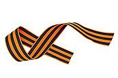 Георгиевская лента нарезанная, вискозная без муара (100 штук)