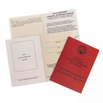Удостоверение к награде Медаль «За боевые заслуги СССР», муляж