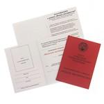 Удостоверение к награде Медаль материнства II степени, муляж