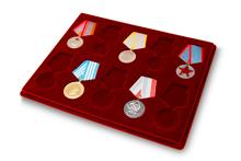 Купить бланк удостоверения Планшет для наград СССР под 10 медалей (32 и 37 мм)