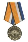 Медаль МО РФ «За службу в войсках радиоэлектронной борьбы» с бланком удостоверения