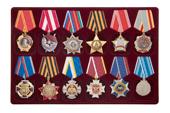 Удостоверение к награде Планшет под ордена, 12 ячеек