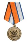 Медаль МО РФ «За службу в морской авиации» с бланком удостоверения