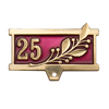 Колодка к знаку/медали 25 (золотая)